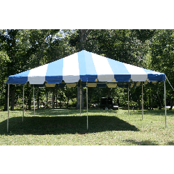 Tent - 20x20 Blue/White Low Peak