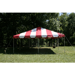 Tent - 20x20 Red/White Low Peak