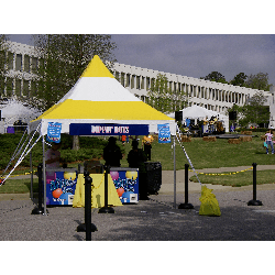Tent - 10x10 Yellow/White High Peak