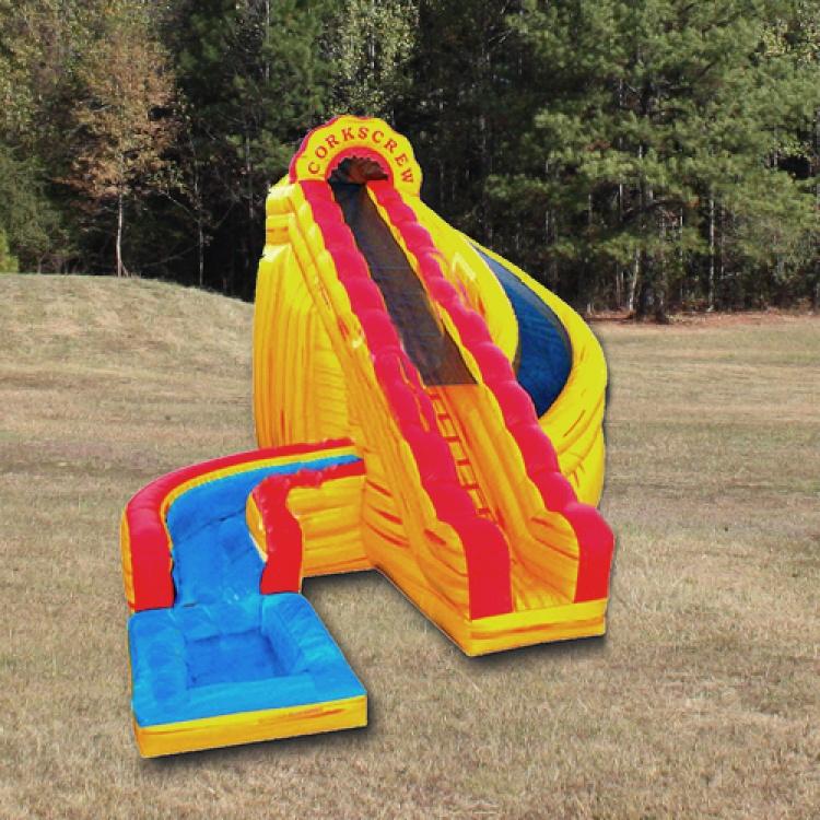 Slide - Corkscrew Fire w/pool