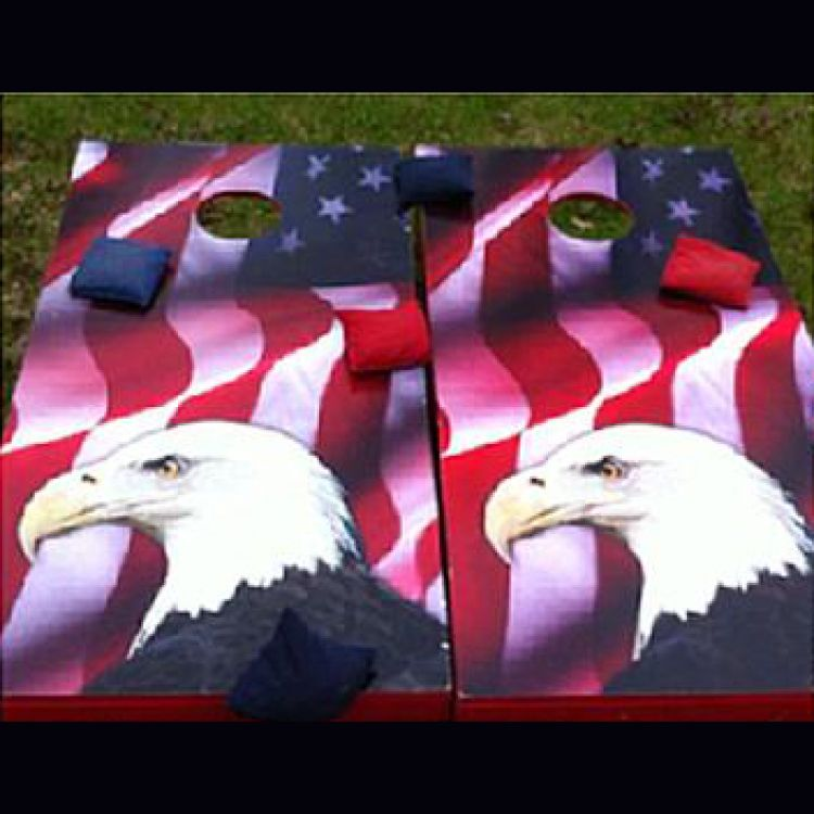 Corn Hole - A (American Flag/Eagle)