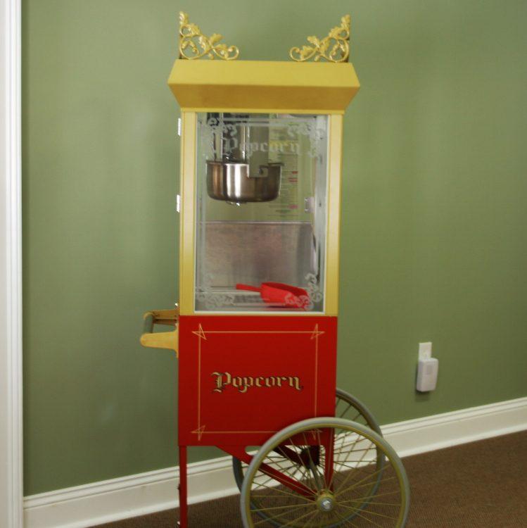 Popcorn Machine w/ Antique Cart
