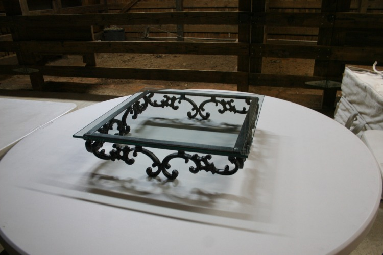 Cake Plate - Wrought Iron/Glass