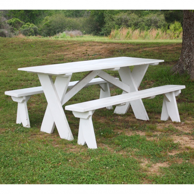 Tables - 6' White Picnic
