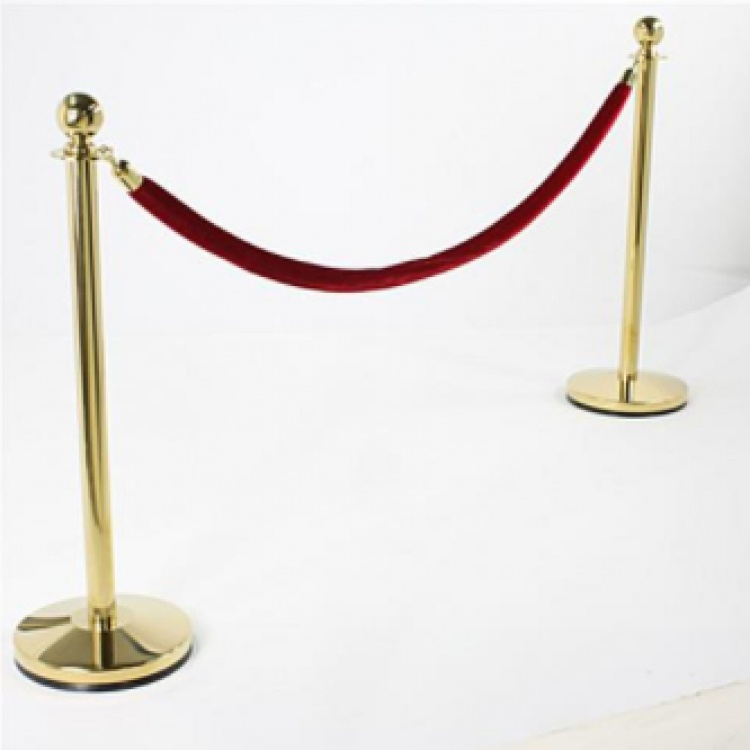 Stanchions with Red Ropes